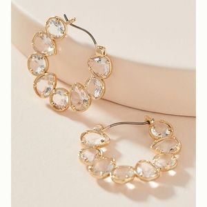 Anthro Margot Hoop Earrings - clear